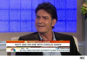 Charlie Sheen with Matt Lauer on 'Today'