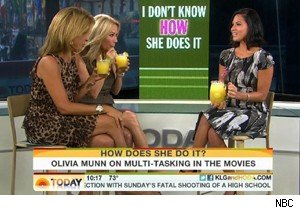 Olivia Munn drinks with Kathie Lee Gifford and Hoda Kotb on 'Today'