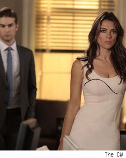Chace Crawford and Elizabeth Hurley
