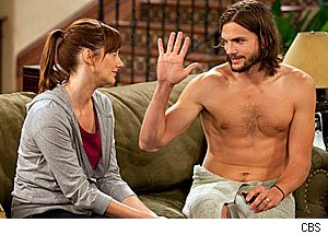 Judy Greer & Ashton Kutcher, 'Two and a Half Men'