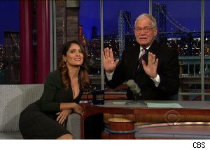 Salma Hayek, 'Late Show with David Letterman'