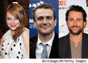 Emma Stone, Jason Segel, Charlie Day SNL