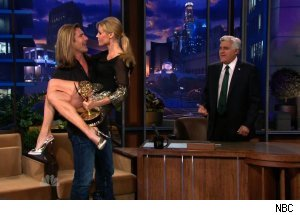 Fabio &amp; Julie Bowen, 'The Tonight Show with Jay Leno'