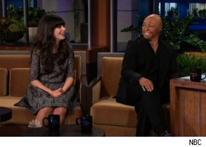 Zooey Deschanel &amp; J.R. Martinez, 'The Tonight Show with Jay Leno'