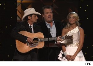 Brad Paisley, Eric Stonestreet, Carrie Underwood, 'The 45th Annual CMA Awards'