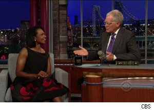 Condoleezza Rice, 'Late Show with David Letterman'