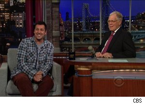 Adam Sandler, 'Late Show with David Letterman'