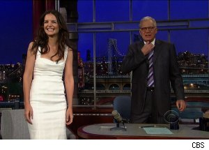 Katie Holmes, 'Late Show with David Letterman'