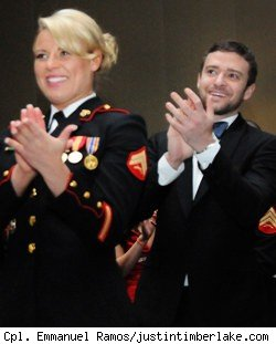 Justin Timberlake, Kesley De Santis, Marine Corps Ball
