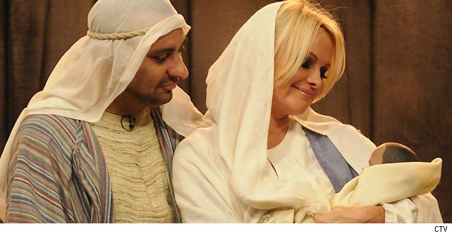 Pamela Anderson be a virgin mary christmas
