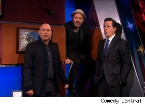 Brian Eno, Michael Stipe, 'The Colbert Report'