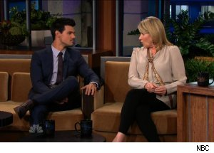 Taylor Lautner &amp; Martha Stewart, 'The Tonight Show with Jay Leno'
