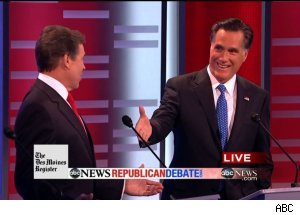 Mitt Romney $10,000 bet - 'ABC News Republican Debate'