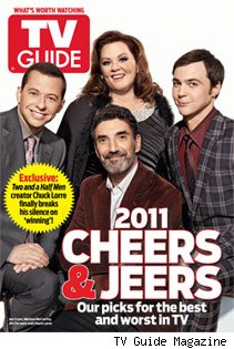TV Guide Magazine features Chuck Lorre & his stars