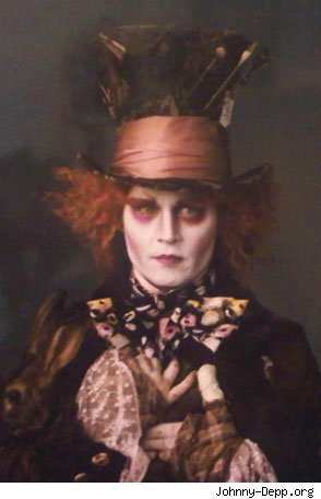 "The first photo of Johnny Depp as The Mad Hatter in 2010's ""Alice in"