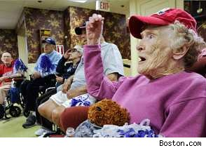 Senior Citizens root for the Patriots