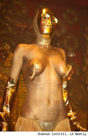 OK, sexy C3PO makes us feel a bit uncomfortable.