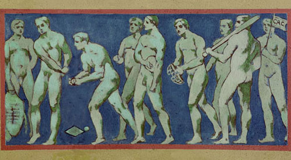 naked baseball players