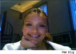 Jessica Alba on Chatroulette