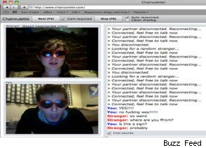 Glasses Girl on Chatroulette