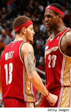 Cleveland Cavaliers Delonte West Lebron James