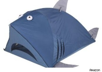 It's a tent that looks like a shark!