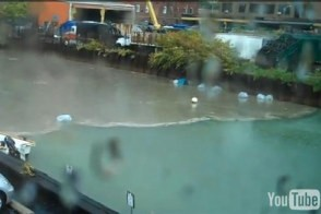 Crap floods the canal