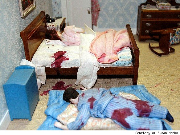 Real Crime Scene Murder http://www.asylum.com/2010/10/19/nutshell-studies-of-unexplained-death-of-dolls-and-murder/