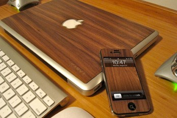 karvt wooden macbook ipad skins