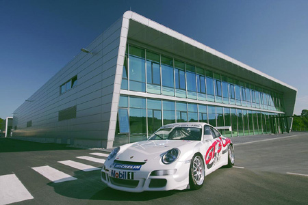 Sports Motorsports Auto Racing News  Media on Porsche Opens New Motorsport Centre In Weissach