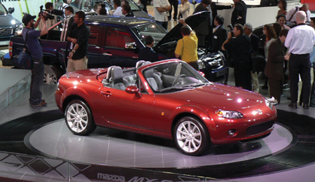 MX-5 Roadster Coupe on display at the British Motor Show