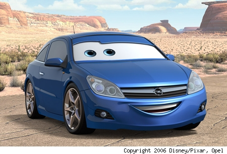 pixar cars 2. Opels brought to life by Pixar