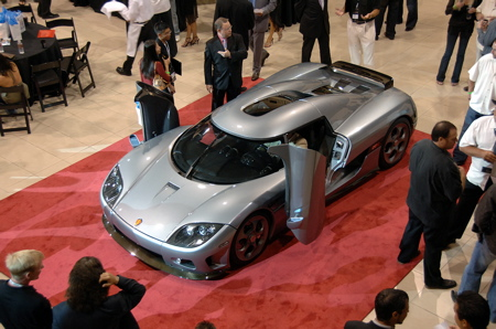 Koenigsegg ccx has official us debut in las vegas autoblog for Exotic car las vegas motor speedway