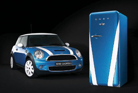 Smeg FAB28MCS - MINI Limited Edition with the 2007 MINI Cooper S