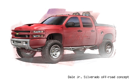 Dale Jr. Silverado off-road concept