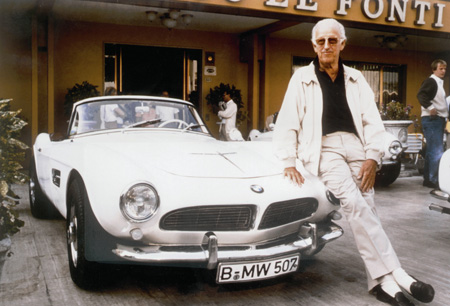 Count Albrecht Graf Goertz with the BMW 507