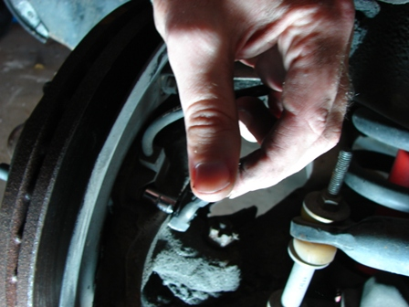 how to break loose lower ball joint
