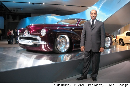 Ed Welburn with the Holden Efijy Concept