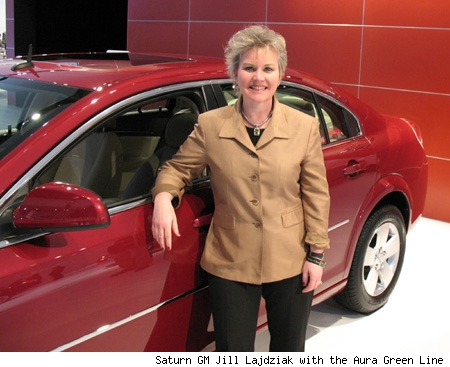 Saturn General manager Jill Lajdziak