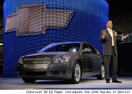 Ed Peper, Chevrolet GM, introduces the 2008 Chevy Malibu
