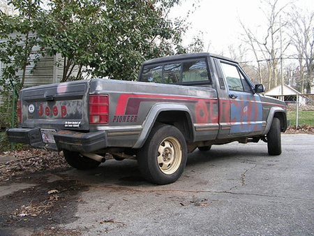 beater of the day 1988 jeep comanche autoblog rh autoblog com Jeep Hurricane Willys Jeep Truck