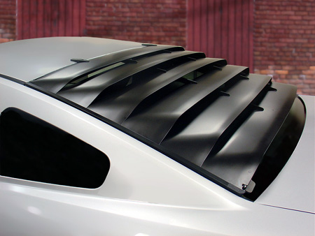 ROUSH going retro with rear window louvers for Mustang