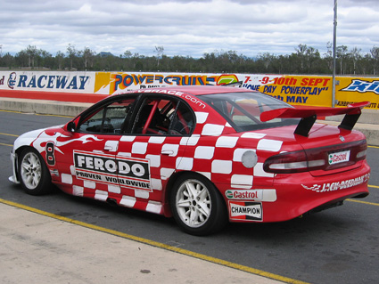 Auto  Racing Email Stationary on Racing V8s At Queensland Raceway