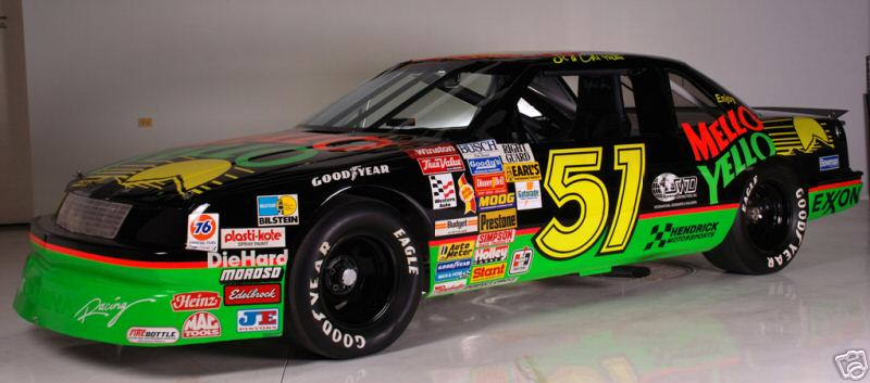 On eBay is the last of the Mellow Yello Chevy Luminas from Days of Thunder.