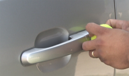 Can you really open a locked car door with a tennis ball for How to unlock mercedes benz door without key