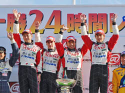 Denso team celebrates Tokachi 24 win