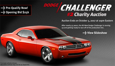 Ebay Find Of The Day Charity Auction For Dodge Challenger 2