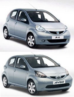 BYD F-1 / Toyota Aygo