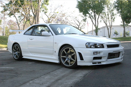 of the two with Paul Walker's R34 Nissan Skyline GT-R V Spec II.