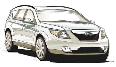 Redesigned Forester coming to Detroit, first unconfirmed sketch
